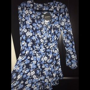 Blue Floral Romper by Cotton On